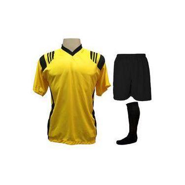Fardamento Completo modelo Roma Amarelo/Preto 12+1 (12 camisas + 12 calções + 13 pares de meiões + 1