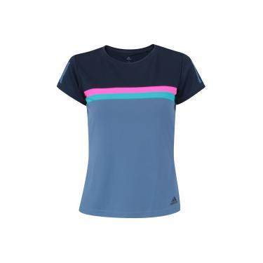 Camiseta com Proteção Solar UV adidas Club Tee - Feminina - AZUL ESC AZUL  adidas 3026a288f77ee