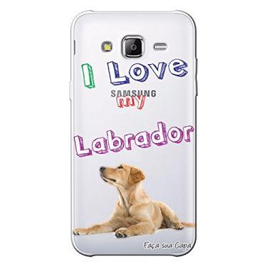 Capa Personalizada para Samsung Galaxy J3 2016 Eu Amo Meu Labrador - TP77