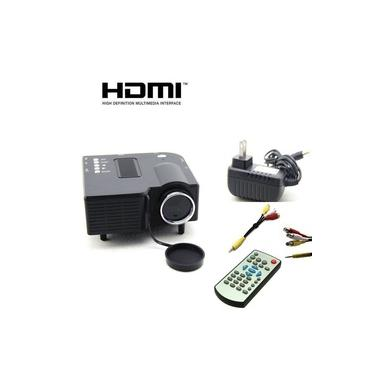 Mini Projetor Preto Portátil Led Data Show Hdmi Multimídia Filme