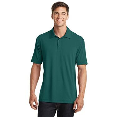 Camisa polo masculina Port Authority Touch Performance P verde exuberante