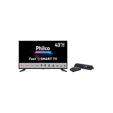 Imagem de Smart TV LED 43'' Philco PTV43E10N5SF Full HD Processador Quad Core Wi-Fi 2 HDMI 1 USB e Midiacast + Roku Express Dispositivo de Streaming