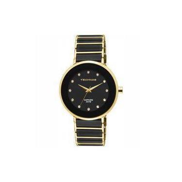 66d0caf74e164 Relógio Technos Feminino Elegance Ceramic Sapphire Analógico 2035LMM 4P