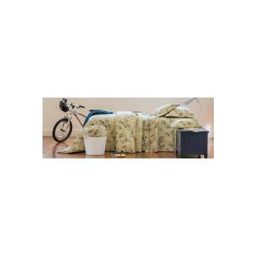 Imagem de Colcha Cobre Leito Scavone Solteiro Bike Mostarda 200 Fios