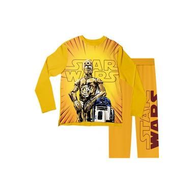 Pijama Infantil Star Wars Amarelo PJML