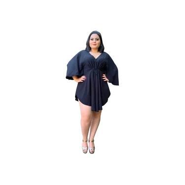Vestido Kimono Curto Kamila Coral
