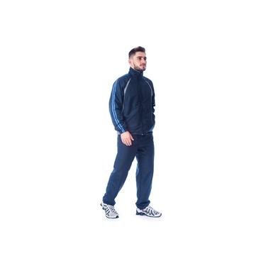 Conjunto Agasalho Masculino Microfibra - Marinho/Cinza/Cobalto