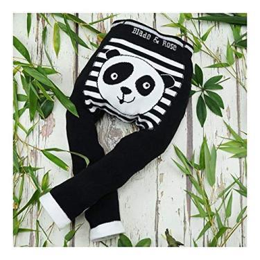 Meia Calça Legging Infantil Panda WWF 6-12 meses, Blade and Rose, Preto