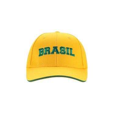 Boné Aba Curva do Brasil 2018 Adams - Strapback - Adulto - AMARELO Adams 86dfcb5c43a