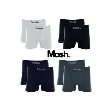 Kit 10 Cuecas Boxer Box Sem Costura Basic Microfibra Mash Oferta