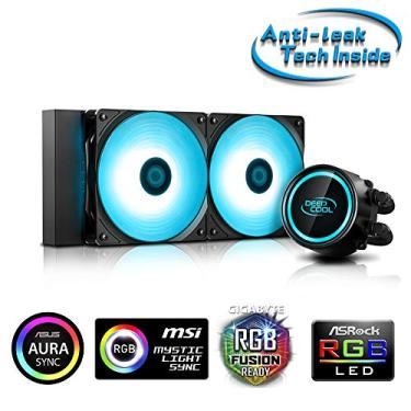 Water Cooler 240mm Gammaxx L240 V2 RGB Intel e AMD 2 Fan 12CM Mangueiras de Nylon - DP-H12RF-GL240V2