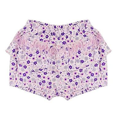 Shorts Look Jeans Floral Lilás - LILAS - GG