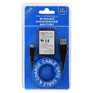 Bateria Controle Ps4 Playstation + Cabo Carregador Usb