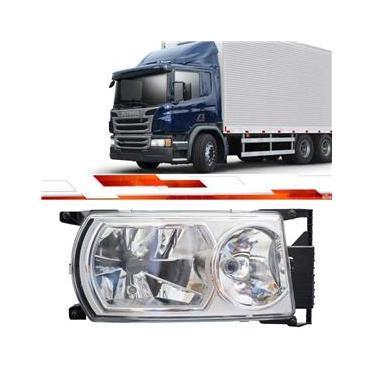 Par Farol Scania Série 5 P G R 2009 Em Diante Usa Lâmpadas H7 E D1R Xenon
