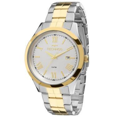 9d323f5618 Relógio Masculino Technos Elegance 2115MGN 5K - Prata Dourado