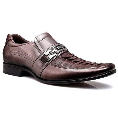Sapato Social Rafarillo Conforto Couro Masculino - Cappucino - 38