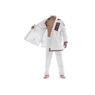 Kimono Jiu Jitsu - Trancado - Plus - Shiroi - Branco