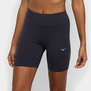 Imagem de Bermuda Feminina Fitness corrida caminhada Mizuno Tamanho:GG;Cor:Azul