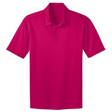 Camisa polo Port Authority High Silk Touch Performance 3XLT rosa framboesa