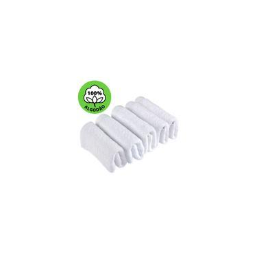 Imagem de Kit 5 Toalhas de Rosto Branca Salão de Beleza 100% Algodão 40 x 65 cm