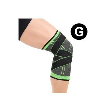 Imagem de Joelheira Elastica 3D Joelhos Exercício Compressão Fitness Estabilidade Academia Apoio Articulação Suporte