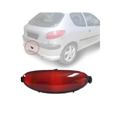 Lanterna (Refletor) do Parachoque Traseiro Peugeot 206 Hatch SW