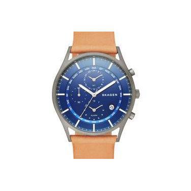 f0b8661d7c417 Relógio Masculino Skagen - Modelo SKW6285 Pulseira de Couro   A prova d   água