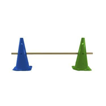 Kit Agilidade 2 Cones 50cm com 1 Barreira Rythmoon