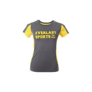 T-Shirt Cinza E Amarelo M Everlast