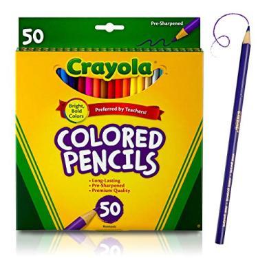Lápis de cor Crayola, cores sortidas, Crayola 50 Ct. Colored Pencils, 50 Count, 1, 50