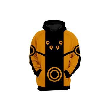 Blusa de Frio Moletom Naruto Uzumaki Laranja