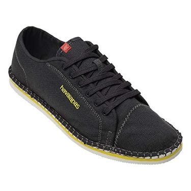 Alpargatas Sneaker Layers III, Havaianas, Adulto Unissex, Cinza Chumbo/Amarelo, 44