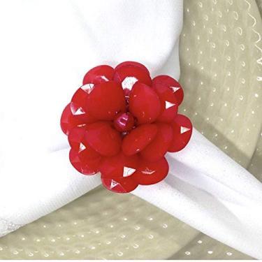Imagem de Porta Guardanapo Flor Delicada da Charlô (Vermelha) - 4 unidades
