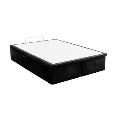 2acf502053 Base Para Cama Box Casal Jade com Baú Preto