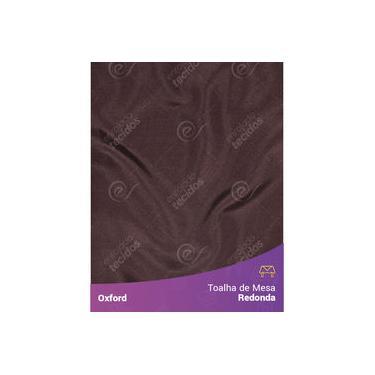 Imagem de Toalha De Mesa Redonda Para Buffet Em Oxford Marrom Chocolate
