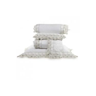 Imagem de Colcha Queen com almofada e rolinho 300 Fios Camille - Marken Fassi