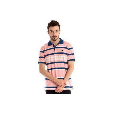 Camisa Polo Manga Curta Salmão ab7b7929fd566