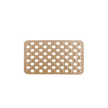Imagem de Tapete para Box Banheiro Antiderrapante com Ventosa Bege
