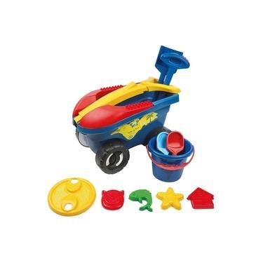 Imagem de Cargo Brinquedo Praia Com 11 Peças Carrinho Balde Pá - Mor