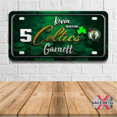 Imagem de Placa De Carro Decorativa Tema Nba -  Boston Celtics Garnett Pdc-044 -