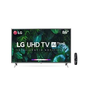 "Smart TV LED 86"" UHD 4K LG 86UN8000PSB Wi-Fi, Bluetooth, HDR, Inteligência Artificial ThinQ AI, Google Assistente, Alexa, Controle Smart Magic - 2020"