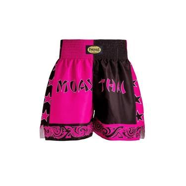 Shorts Boxe Muay Thai Fheras Training New Bicolor Pr/Rs
