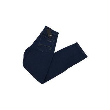Calça Pierre Cardin Jeans Masculina Tradicional Cintura Alta.