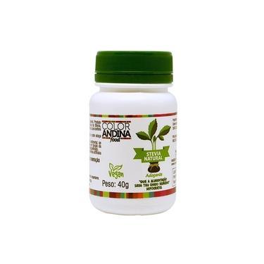 Adoçante Diétetico Stevia Sem Resido Amargo 40g Color Andina