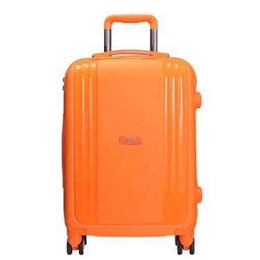 Mala De Viagem Pequena 10kg Mundi California TSA 360 Graus Polipropileno MD9098 Laranja