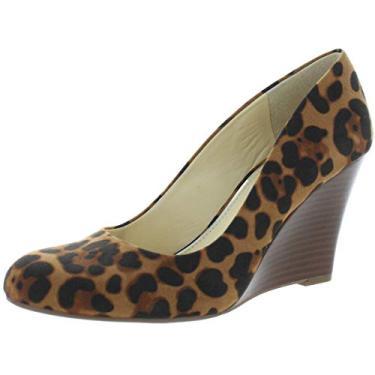 Jessica Simpson escarpim feminino com salto anabela, Leopard, 9.5
