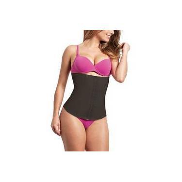 Kit 5 Cinta Modeladora Emborrachada Esbelt Cotton Body Shaper Feminino Ref 404