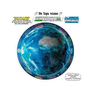 Imagem de Puzzle Elka Play Planeta Terra Manual do Mundo - 214 Peças