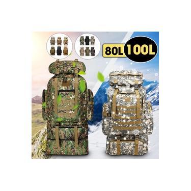 80 / 100L - Mochila Tática Militar Molle ao ar livre Exército Caminhadas Mochila ao ar livre Camping Sac a Dos