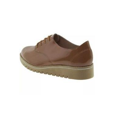 Sapato Feminino Oxford Caramelo/verniz Beira Rio